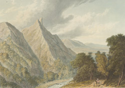 View in the Bore Ghaut, drawn on the spot in 1803